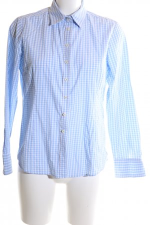 Brookshire Long Sleeve Shirt white-blue check pattern casual look