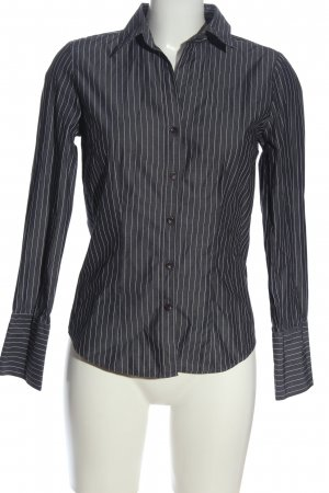 Brookshire Long Sleeve Shirt black-white striped pattern casual look