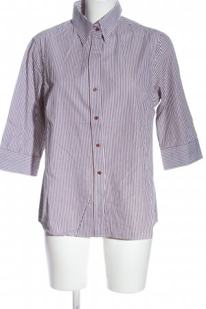 Brookshire Long Sleeve Shirt brown-white striped pattern casual look