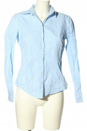 Brookshire Long Sleeve Shirt blue-white check pattern casual look