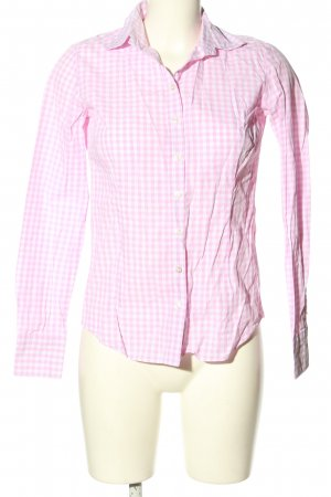 Brookshire Long Sleeve Shirt pink-white check pattern casual look