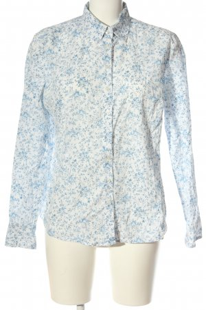 Brookshire Long Sleeve Shirt white-blue allover print business style