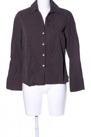 Brookshire Long Sleeve Shirt brown-white striped pattern business style