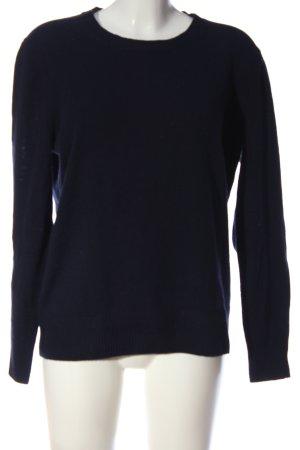 Brookshire Rundhalspullover blau Casual-Look