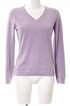 Brookshire Crewneck Sweater lilac flecked casual look