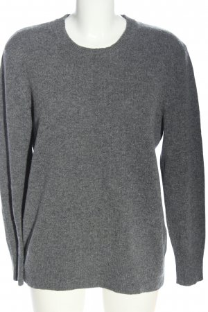 Brookshire Crewneck Sweater light grey flecked casual look