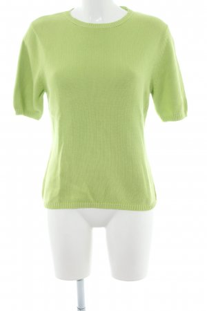 Brookshire Knitted Sweater green casual look
