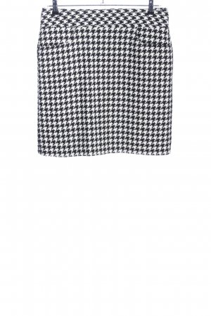 Brookshire Gonna tweed nero-bianco stampa integrale stile casual