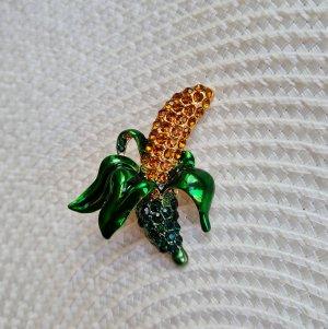 Glitz & Glam Spilla giallo-oro-verde bosco