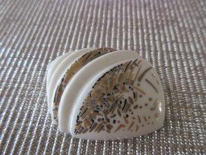 hutschenreuther Broche blanc-doré
