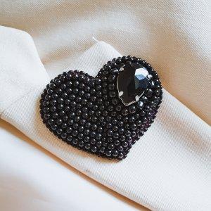 handmade unikat Broche zwart