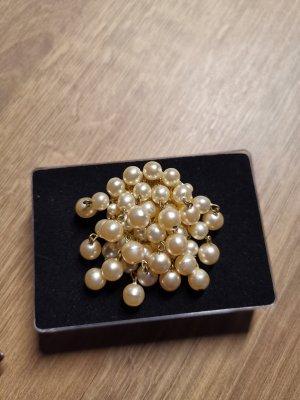 Brosche Perlen Vintage