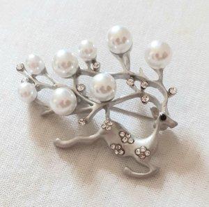 Spilla bianco-argento