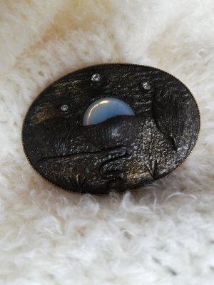 Original Vintage Brooch bronze-colored-azure