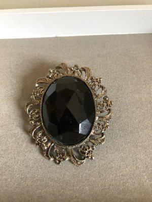 Vintage Brooch black-silver-colored