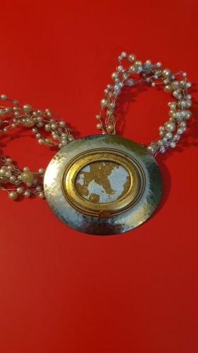 Langani Broszka srebrny-złoto