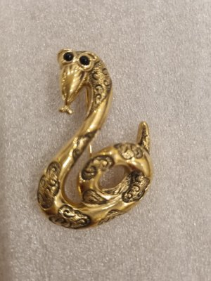 Pierre Lang Brooch black-gold-colored