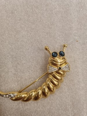 Pierre Lang Brooch gold-colored-slate-gray