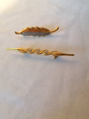 Brooch silver-colored-gold-colored
