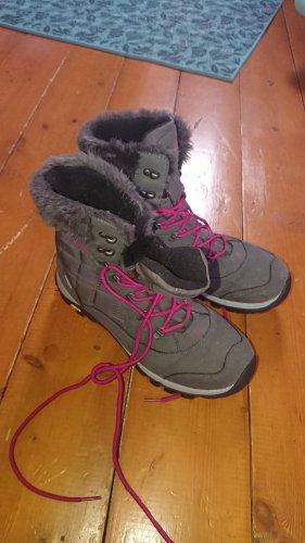 Brütting Winter Boots dark grey-raspberry-red