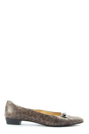 Brunate Składane baleriny brązowy-czarny Zwierzęcy wzór W stylu casual