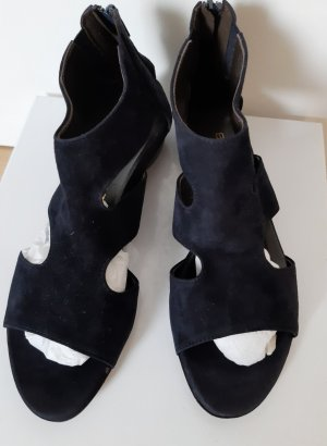 Brunate Sandalo blu scuro Pelle