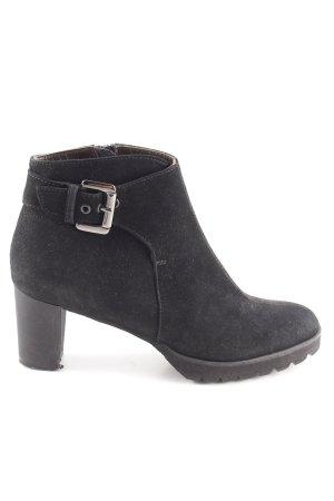 Brunate Reißverschluss-Stiefeletten schwarz Casual-Look