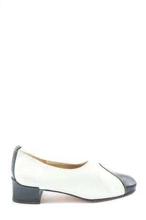 Brunate Schlüpfschuhe weiß-schwarz Casual-Look