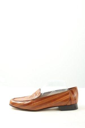 Brunate Scarpa slip-on marrone-arancione chiaro stampa integrale