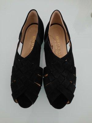 Brunate Sandalen met bandjes zwart-goud