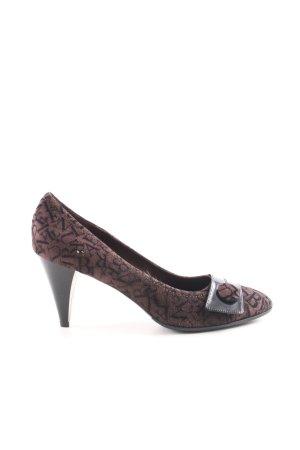 Brunella High Heels braun-schwarz abstraktes Muster Elegant