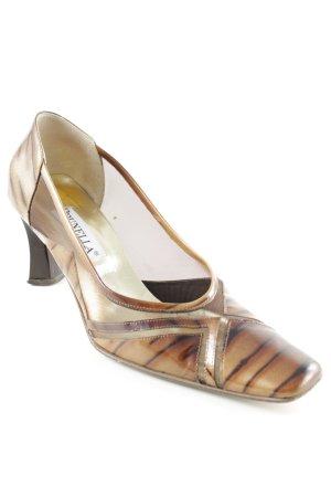 Brunella High Heels braun-dunkelbraun Animalmuster extravaganter Stil