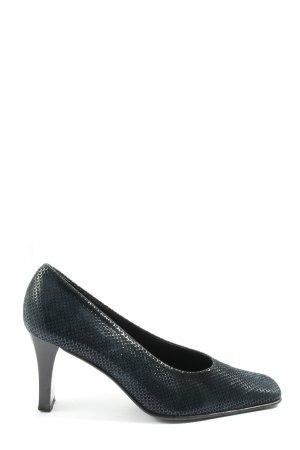 Brunella Classic Court Shoe black animal pattern casual look