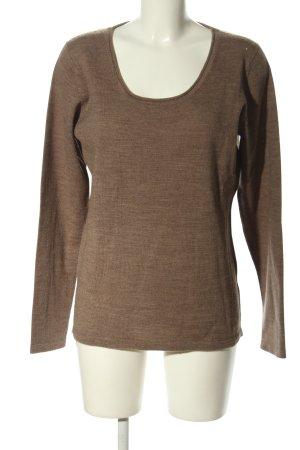 Brunella Wool Sweater brown flecked casual look