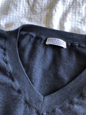 Brunello Cucinelli Pullover in cashmere blu scuro