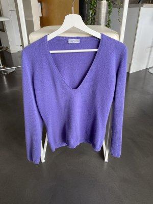 Brunello Cucinelli Pullover in cashmere viola scuro