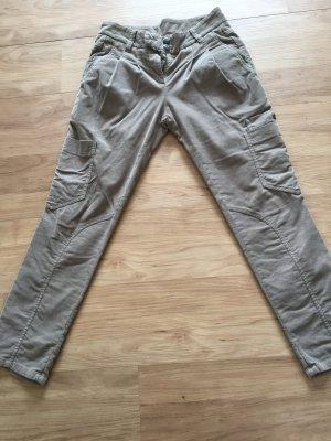 Brunello Cucinelli Pantalon en velours côtelé brun sable coton