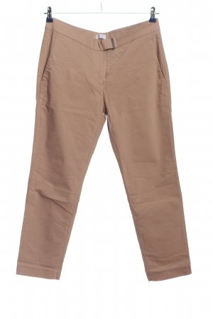 Brunello Cucinelli Pantalon chinos brun style d'affaires