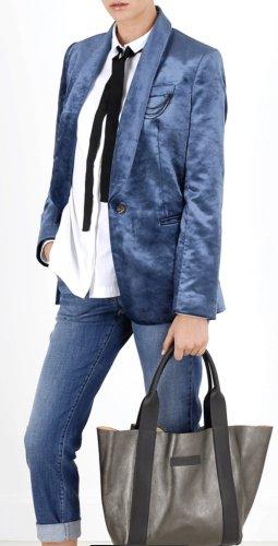 Brunello Cucinelli Boyfriend Blazer multicolored silk