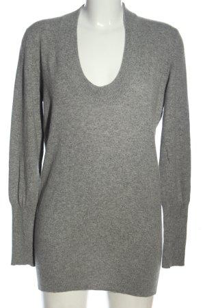 Brunello Cucinelli Kaszmirowy sweter jasnoszary Melanżowy W stylu casual