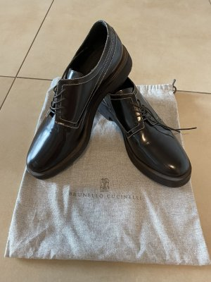 Brunello Cucinelli Scarpa Derby marrone-nero-argento