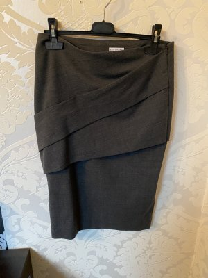 Brunello Cucinelli Midi Skirt grey-dark grey