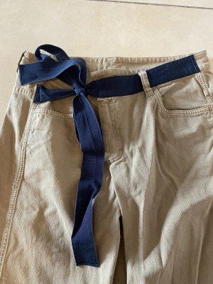 Brunello Cucinelli Jeans svasati marrone chiaro-nero
