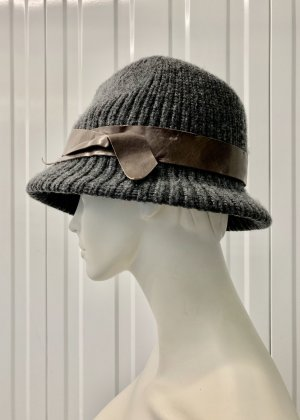 Brunello Cucinelli Woolen Hat grey-brown cashmere