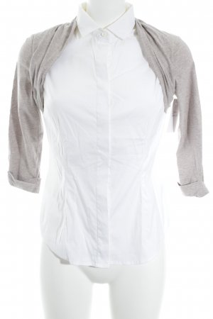 Brunello Cucinelli Long Sleeve Blouse white-light brown flecked business style