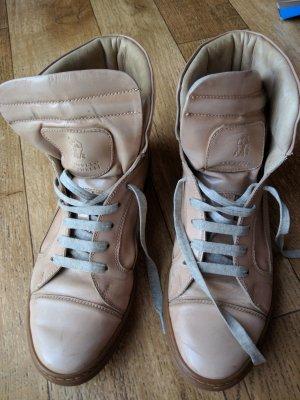 Brunello Cucinelli Leder Sneaker beige-Rose