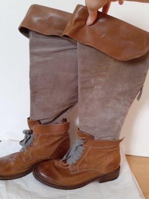 Brunello Cucinelli Stivale militare marrone-color cammello Pelle