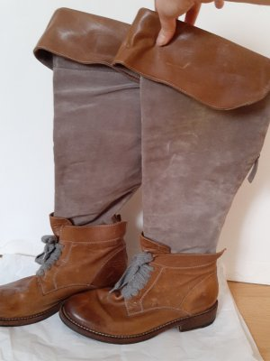 Brunello Cucinelli Jackboots brown-camel leather