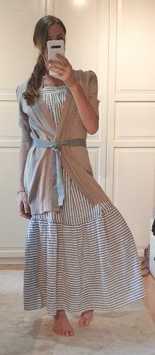 Brunello Cucinelli Giacca in maglia grigio chiaro-beige