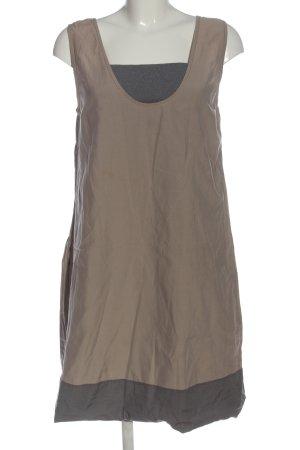 Brunello Cucinelli Mini Dress brown-light grey casual look